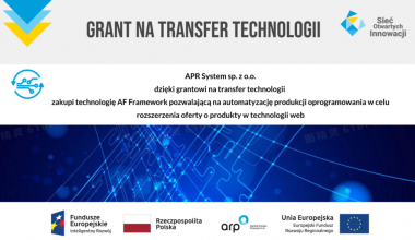 APR System sp. z o.o. z grantem na transfer technologii.